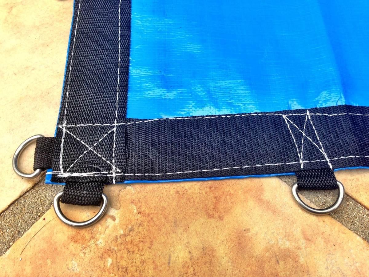 Capas de piscinas 500 micras lona tela prote o tela for Tela impermeable para piscinas