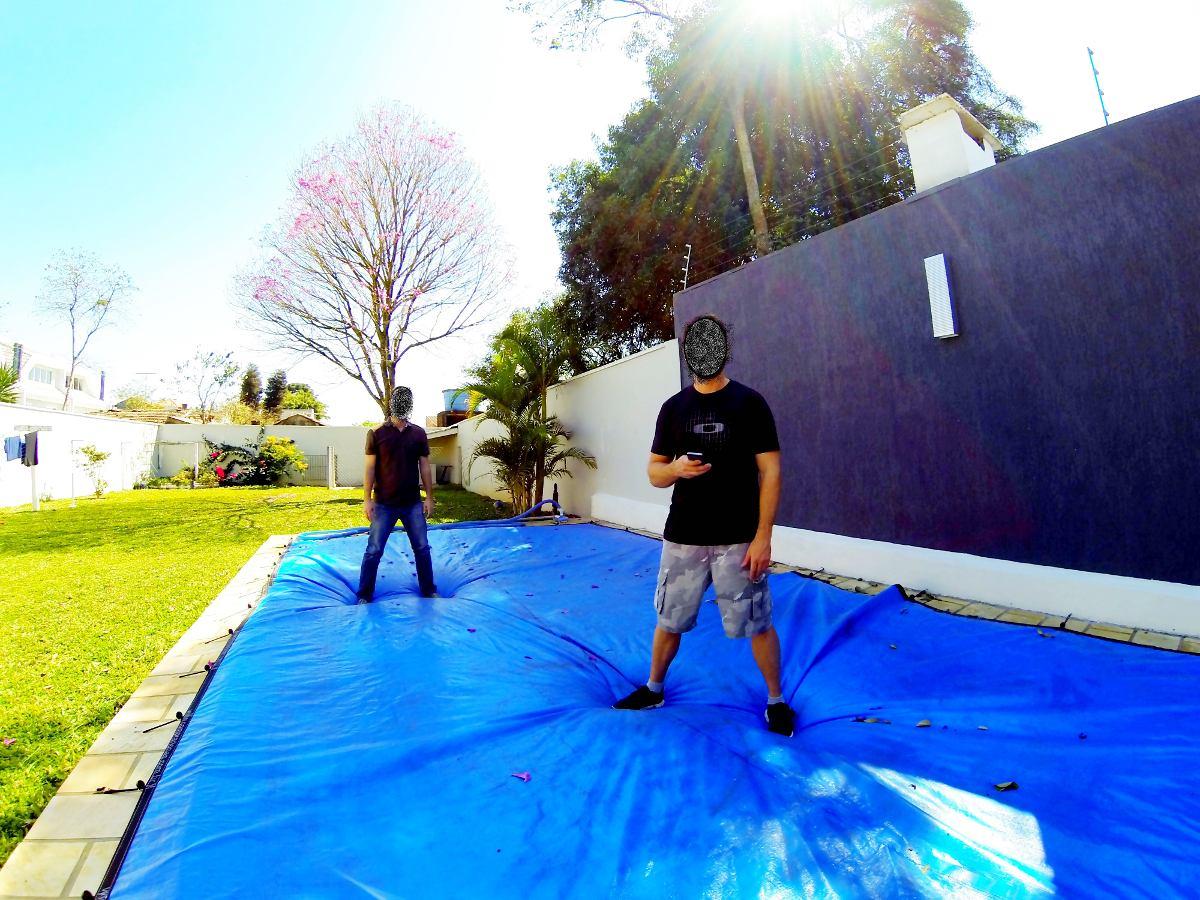 Capas de piscinas 6 x 4m lona prote o cobertura tela r 760 00 em mercado livre - Parches para piscinas de lona ...