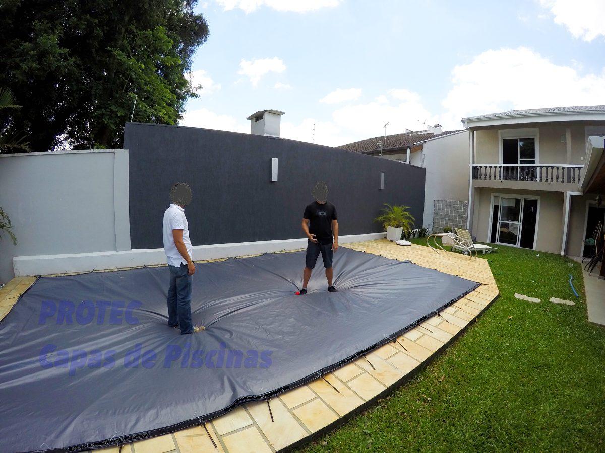 Capas de piscinas 9 x 5 lona cobertura tela prote o r for Coberturas para piscinas