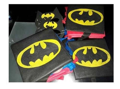 capas de superheroes cotillones infantiles bolsas piñatas