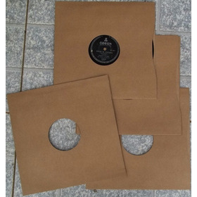 Capas Para Discos De 78 Rpm (lote Com 30 Unidades)