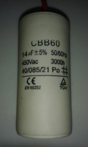 capasitor 14 mf 5% 450vac para bomba de agua de 1/2