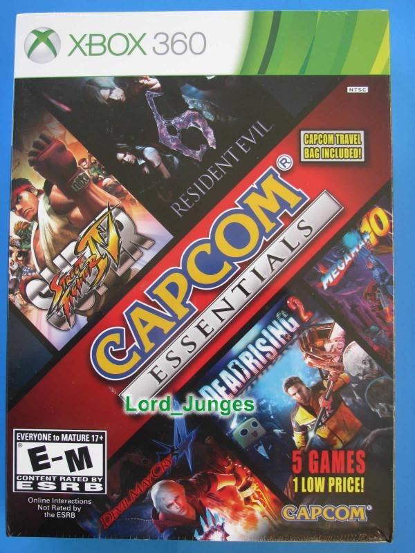 Capcom Essentials - 5 Jogos - Xbox 360 - Lacrado
