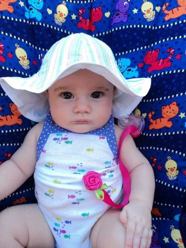 capelina bebé doble capa, muy fresca.
