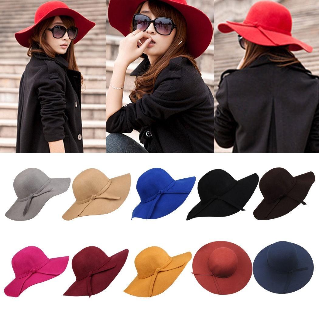 capelina de lana sombrero de fieltro mujer. Cargando zoom. 103e2807d03