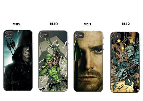capinha arqueiro verde - iphone 4 5s 5c 5se 6s 7 8 8 plus