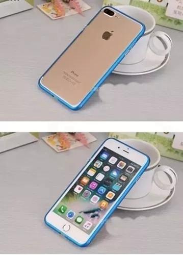 capinha bumper alumínio luxo para apple iphone 8 / 8 plus