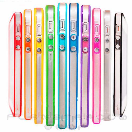 capinha bumper iphone 5s proteção case +película vidro f/v