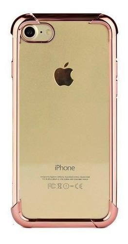 capinha capa case frente e verso 360 iphone 6 6s rose gold