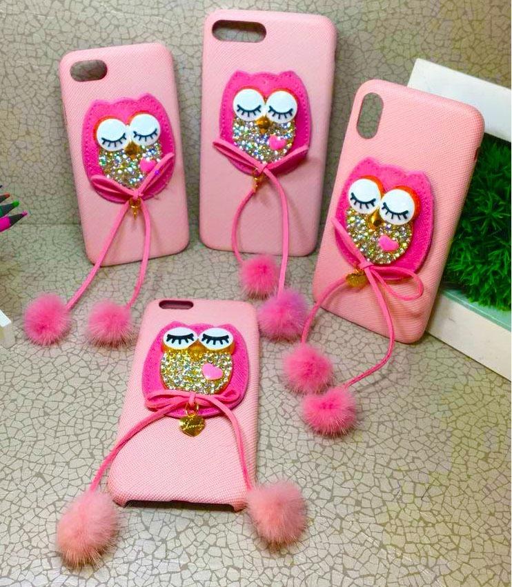 87fd0ef6175 Capinha Capa Case iPhone 6 6s 7 8 7 Plus X Coruja Rosa 3d - R$ 45,50 ...