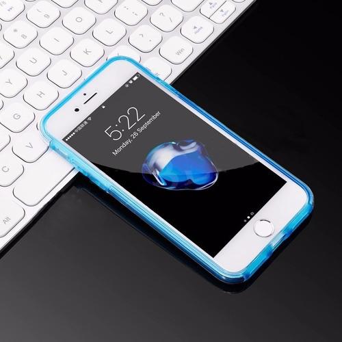capinha capa case iphone 6 / 7 frente verso transparente 360