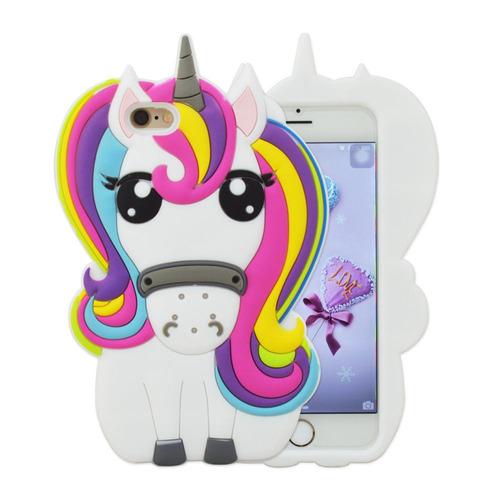capinha capa case unicornio iphone 4 5 6 6s 7 8 plus x 10 3d