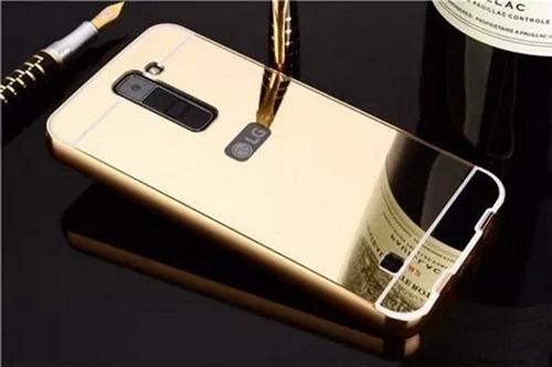 capinha case bumper espelhada luxo celular lg k10 tv k430tv