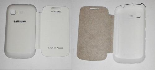capinha case celular samsung galaxy pocket flip cover