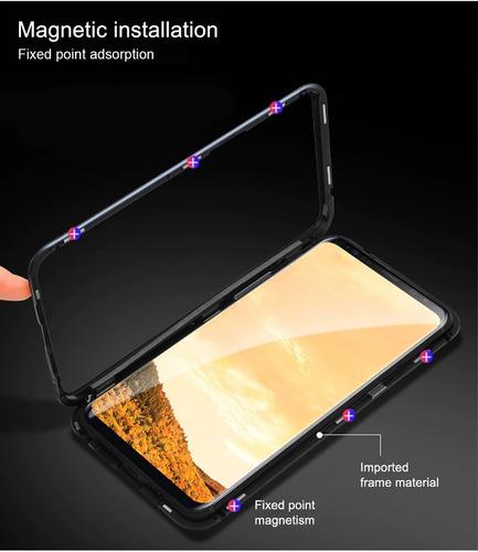 capinha case magnética glass samsung galaxy s10+ plus + pelí