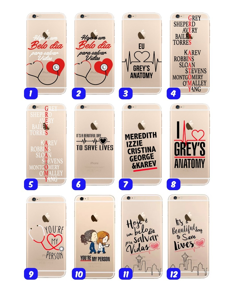Capinha Case Serie Greys Anatomy Iphone 4s 5s Se 6 6s Top - R$ 19,90 ...