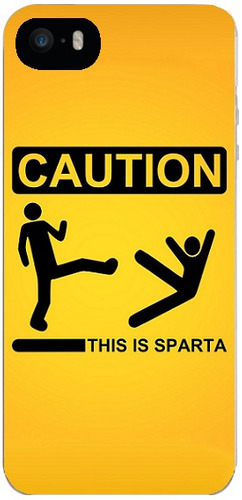 capinha caution this is sparta iphone 4s/5/5s/5c/6/6s 7 8 x