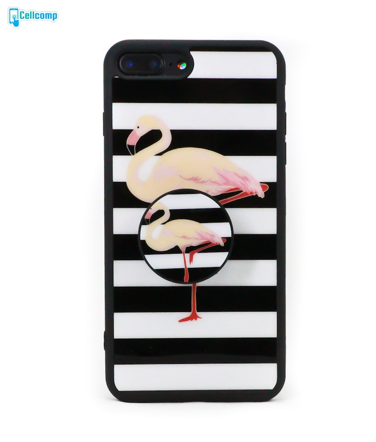 official photos 8ef6d 0d5d9 Capinha Com Popsocket Para iPhone 7 Plus | 8 Plus Flamingo