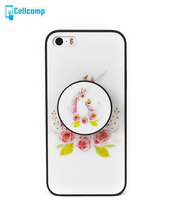the latest 202a3 0e8bb Capinha Com Popsocket Para iPhone Se | 5 | 5s Unicórnio