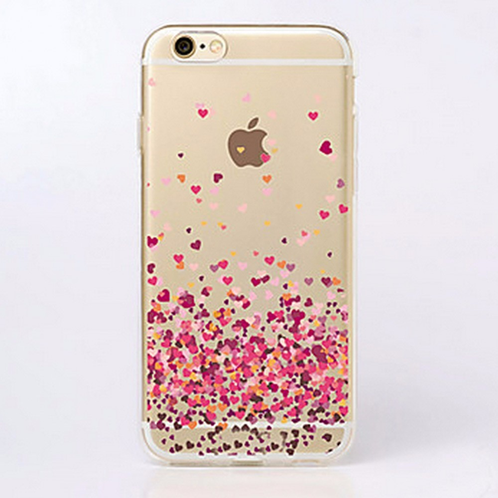 2fdea52c4b4 capinha corações tpu flexível para celular iphone 6, 6s. Carregando zoom.