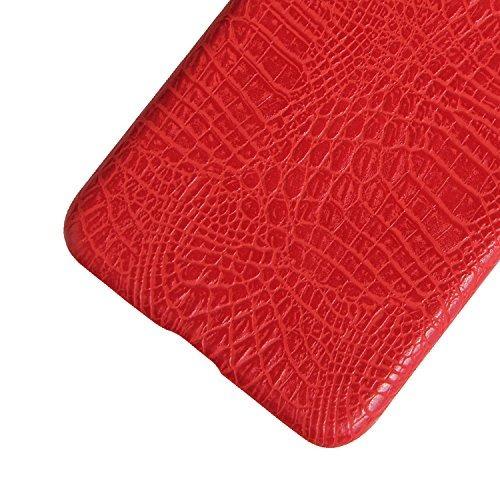 capinha couro de jacaré vermelho asus zenfone 3 ze552kl
