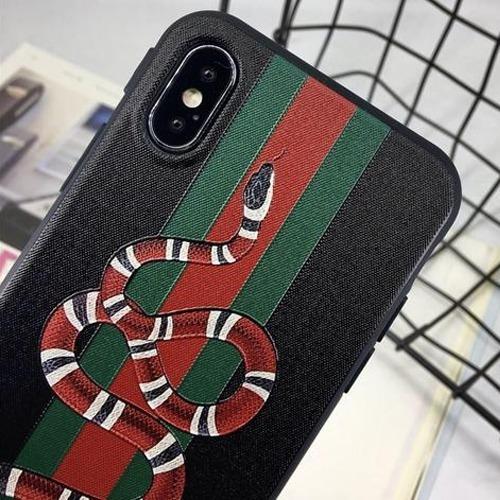 best sneakers 3015b 40809 Capinha Gucci Preta Snake Cobra iPhone 6 6s 7 Plus 10 X Case