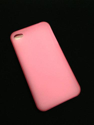 capinha iphone 4/4s rosa translúcido