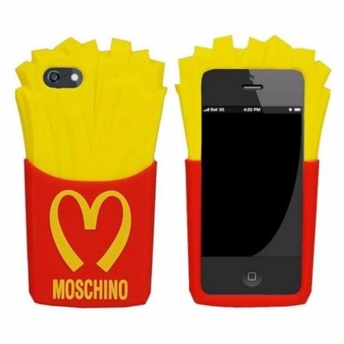 capinha iphone 5 5s 5se batata frita + película