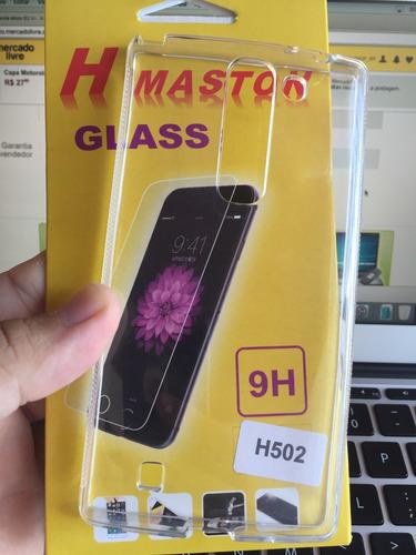 capinha lg magna prime plus h500 h502 h522 + pelic vidro