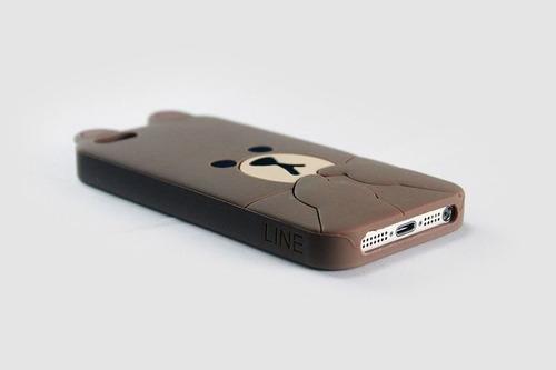 capinha para iphone 5 ou 5s - urso line