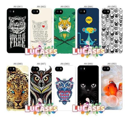 capinha peixe urso lobo gato iphone 5 5s se 6 6s 7 8 plus x