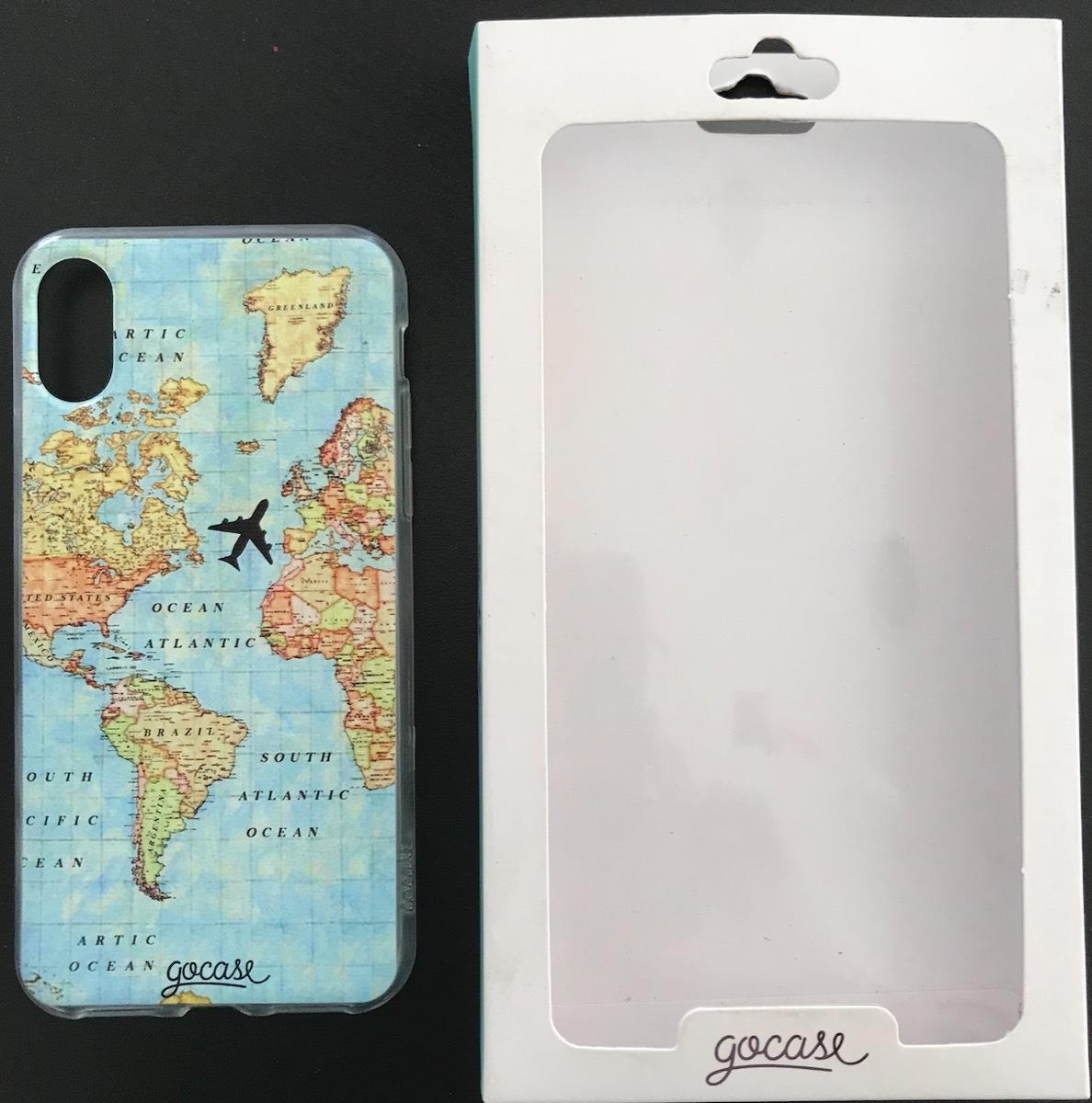 new style 6a38e 6127f Capinha Protetora iPhone X iPhone Xs Gocase Mapa Viagem