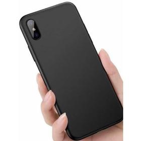 Capinha Protetora Preta Emborrachada iPhone X Xr Xs Xsmax