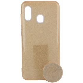 Capinha Silicone Gliter Samsung A20/a30 + Pocket