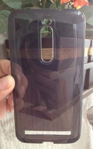 capinha silicone + película vidro temperado asus zenfone 2