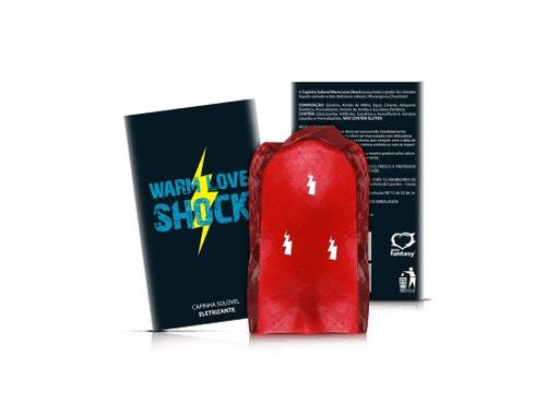 capinha solúvel  warm love shock  - vibrador líquido