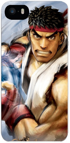 capinha street fighter ryu iphone 4s 5 5s se 6 6s 7 8 plus x