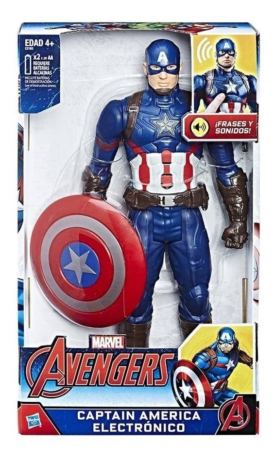 Capitan América Avengers Interactivo Frases Sonidos Marvel