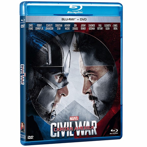 capitán américa: civil war blu-ray + dvd