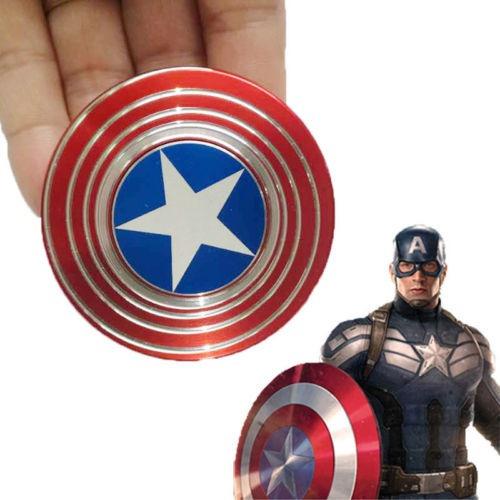 capitán américa fidget edc mano cono escudo juguete foco tda