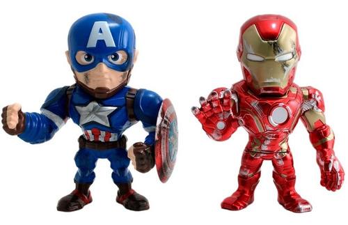capitán américa iron man civil war metals original colección