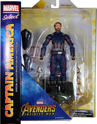 capitan america -iron man - spiderman - thor - marvel select