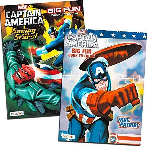 capitan america  libro para colorear set 2 libros de 96 pagi
