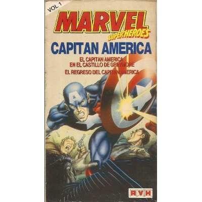 capitán américa (marvel) - 2 vhs tv serie de 60s - c/u $ 180