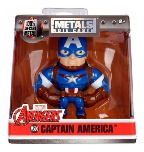 capitan america metals die cast marvel avengers nuevo 6,5 cm