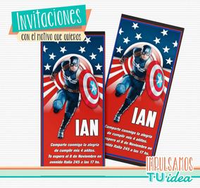Capitán América Tarjetita Para Imprimir