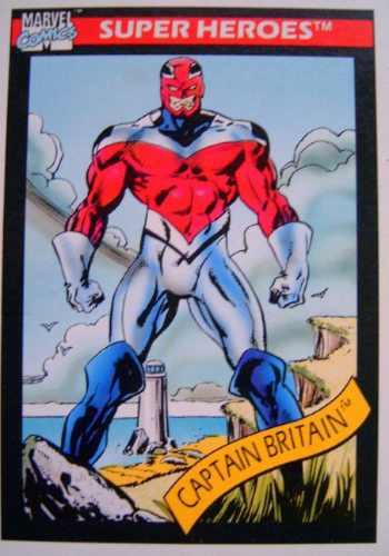 capitan bretaña / marvel 90 comics cards 40