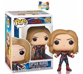 Capitan Marvel Vers Traje Funko Pop Carol Danvers Marvel Cf