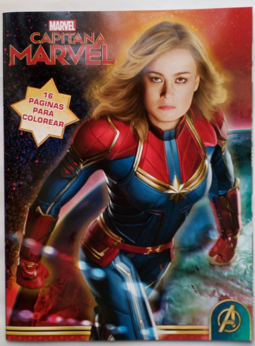 Capitana Marvel Avengers Set 80 Libros Colorear Ilumin Envio