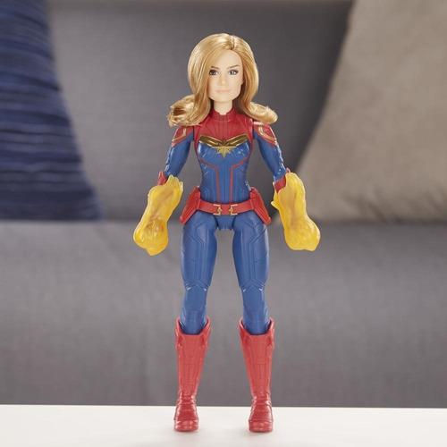 capitana marvel cósmica con accesorios - muñeca 30 cm